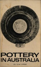 Pottery In Australia Vol 13 No 2 Spring 1974