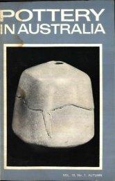 Pottery In Australia Vol 15 No 1 Autumn 1976