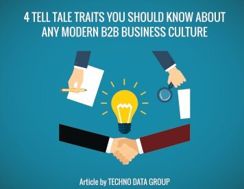 TELL TALE TRAITS YOU SHOULD KNOW ABOUT ANY MODERN B2B BUSINESS