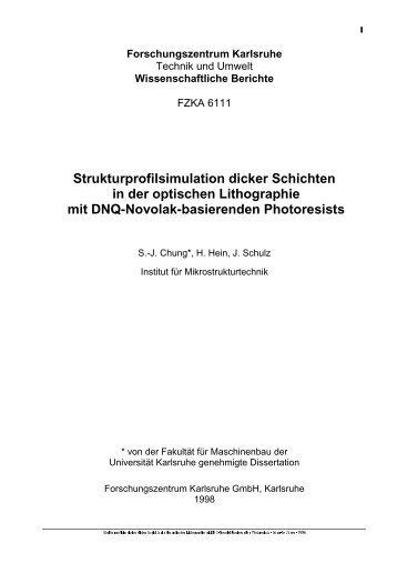 Strukturprofilsimulation dicker Schichten in der optischen ... - FZK