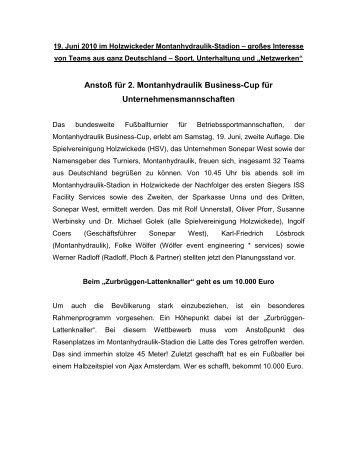Anstoß für 2. Montanhydraulik Business-Cup für ...
