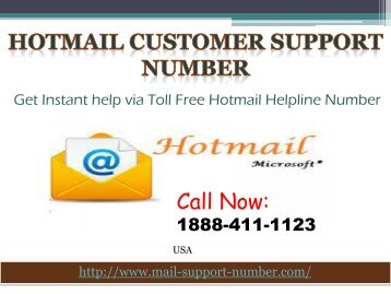 Hotmail Technical Support Number 1888-411-1123 USA
