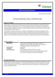 GPS Product Safety Summary - Clariant
