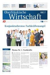 Oberfränkische Wirtschaft Ausgabe 06.2017