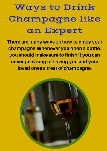 Ways to Drink Champagne like an Expert