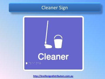 Cleaner Sign