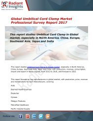 Global Umbilical Cord Clamp Market 2016-2022 | Market Research Reports:Radiant Insights, Inc