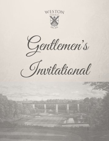 Flip Book Men's Invitational