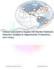 Global Automotive Engine Oil Market (2017-2024)- Research Nester