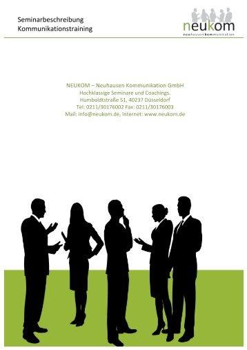 Seminarbeschreibung Kommunikationstraining - Emagister