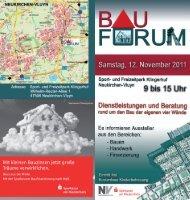 Flyer BauForum - Stadt Neukirchen-Vluyn