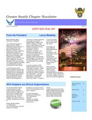 Air Force Association, Greater Seattle Chapter, 2016 - 4th Quarter