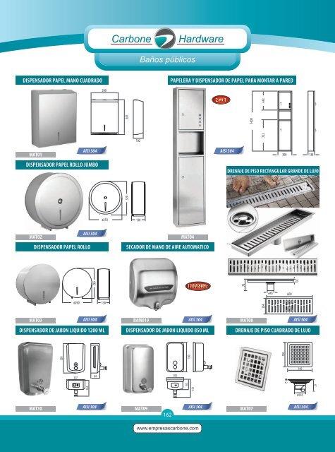 Catálogo Accesorios para Baños Publicos