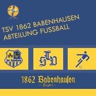 1862 - Imagebroschüre TSV 1862 Babenhausen - Abteilung Fussball
