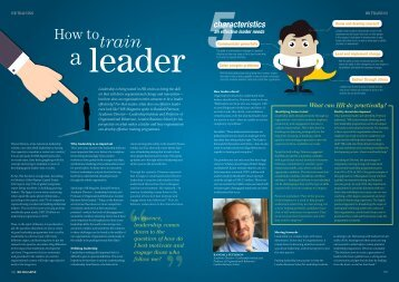 How to train a leader