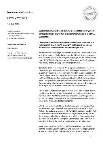"""""""Montanregion Erzgebirge"""" für - Wirtschaftsförderung Erzgebirge ..."""