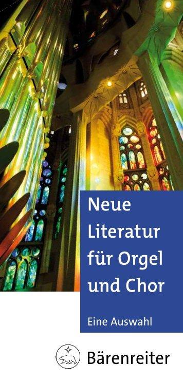 Neue Literatur für Orgel und Chor