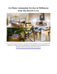 Get Home Automation Services in Melbourne from The Electric Crew
