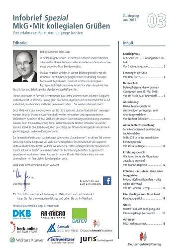 MkG-Infobrief Ausgabe 3/2017
