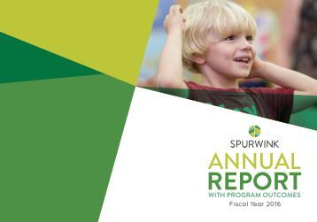 2016 Spurwink Annual Report