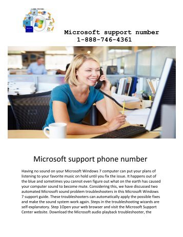 Microsoft support number 1-888-746-4361 USA