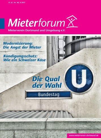 Mieterforum Dortmund - Ausgabe II/2017 (Nr. 48)