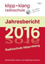 Jahresbericht 2016 – Radioschule klipp+klang