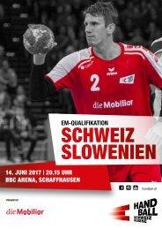 Programmheft Schweiz - Slowenien