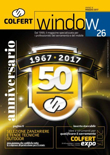 COLFERTwindow 26 - MAGGIO 2017