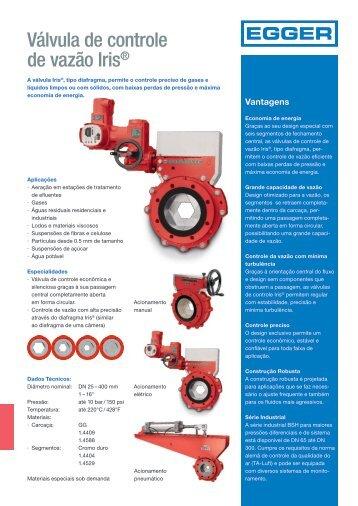 Válvula de controle de vazão Iris®