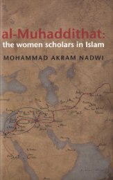 Al-Muhaddithat - The Women Scholars in Islam