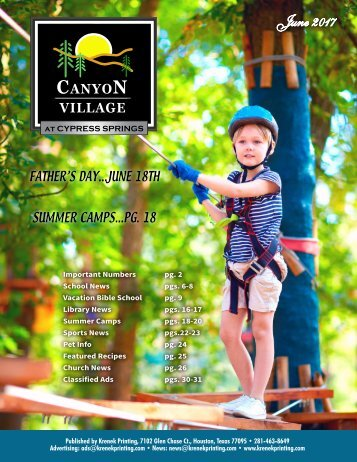 Canyon Village at Cypress Springs June 2017