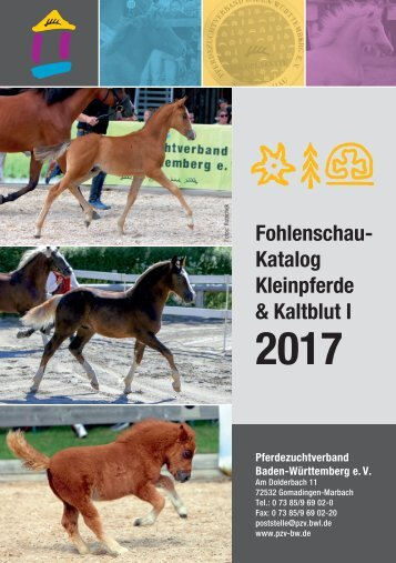 Fohlenschaukatalog Kleinpferde & Kaltblut 1/2017