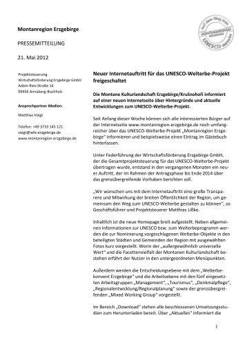 Neue Homepage - Wirtschaftsförderung Erzgebirge GmbH