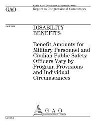 Benefit Amounts for Military Personnel and Civilian Public Safety ...
