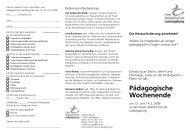 Pädagogische Wochenende - Freie Waldorfschule Ludwigsburg
