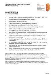 WAHLPRÜFSTEINE - Freie Waldorfschule Ludwigsburg