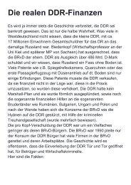 DDR Finanzen Wahrheit