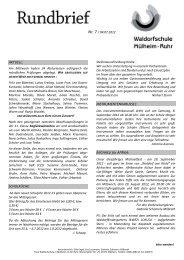 Rundbr. Nr. 7 Juli 2012 - Freie Waldorfschule Mülheim an der Ruhr