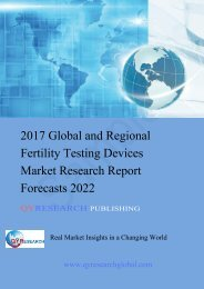 2017 Global and Regional Fertility Testing Devices Market Research Report Forecasts 2022
