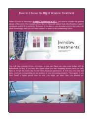 Motorized Window Treatments NYC