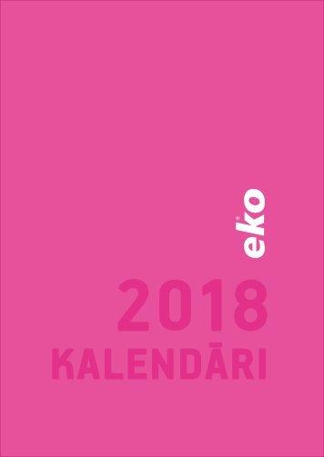 Kalendāri 2018 BALTA eko