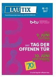 Lautix - Veranstaltungsmagazin der LAUSITZER RUNDSCHAU vom 08. bis 21. Juni 2017