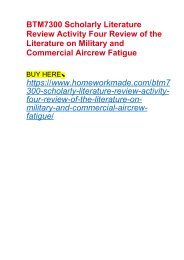 BTM7300 Scholarly Literature Review Activity Four Review of the Literature on Military and Commercial Aircrew Fatigue