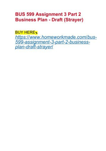 strayer bus 521 assignment 1 business plan part i business vision