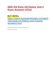 GED 232 Early US History Unit 4 Exam Answers (CCU)