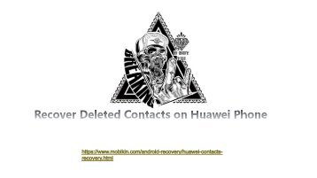 Recover Deleted Contacts on Huawei Phone