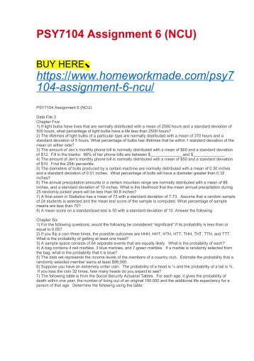 PSY7104 Assignment 6 (NCU)