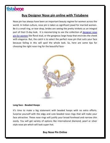 Buy Designer Nose pin online with Tistabene
