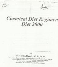 Chemical diet regimen